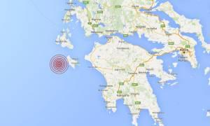 Σεισμός τώρα: 4,3 Ρίχτερ δυτικά της Ζακύνθου