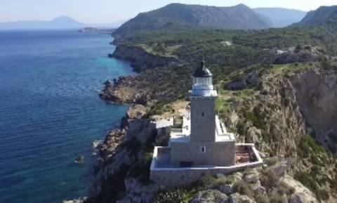 Φάρος Ηραίον: Δείτε το «κόσμημα» του Κορινθιακού… με άλλο μάτι (video)