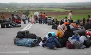 Kλειστή η Εθνική Οδός Λάρισας-Τρικάλων από πρόσφυγες