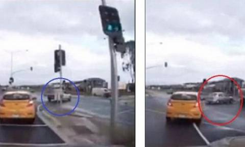 Σοκάρει... Αυτοκίνητο «φάντασμα» συγκρούεται με φορτηγό (video)