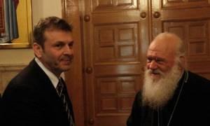 Στον Αρχιεπίσκοπο Ιερώνυμο ο Απόστολος Γκλέτσος