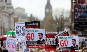 Λονδίνο: Μαζική διαδήλωση κατά της λιτότητας και του πρωθυπουργού Ντέιβιντ Κάμερον (pics)