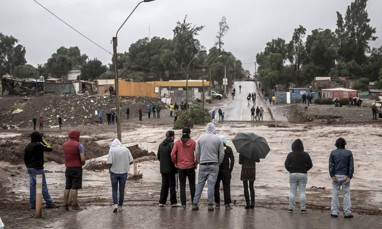 Χιλή: Ένας νεκρός και επτά αγνοούμενοι από τις σφοδρές βροχοπτώσεις στο Σαντιάγο