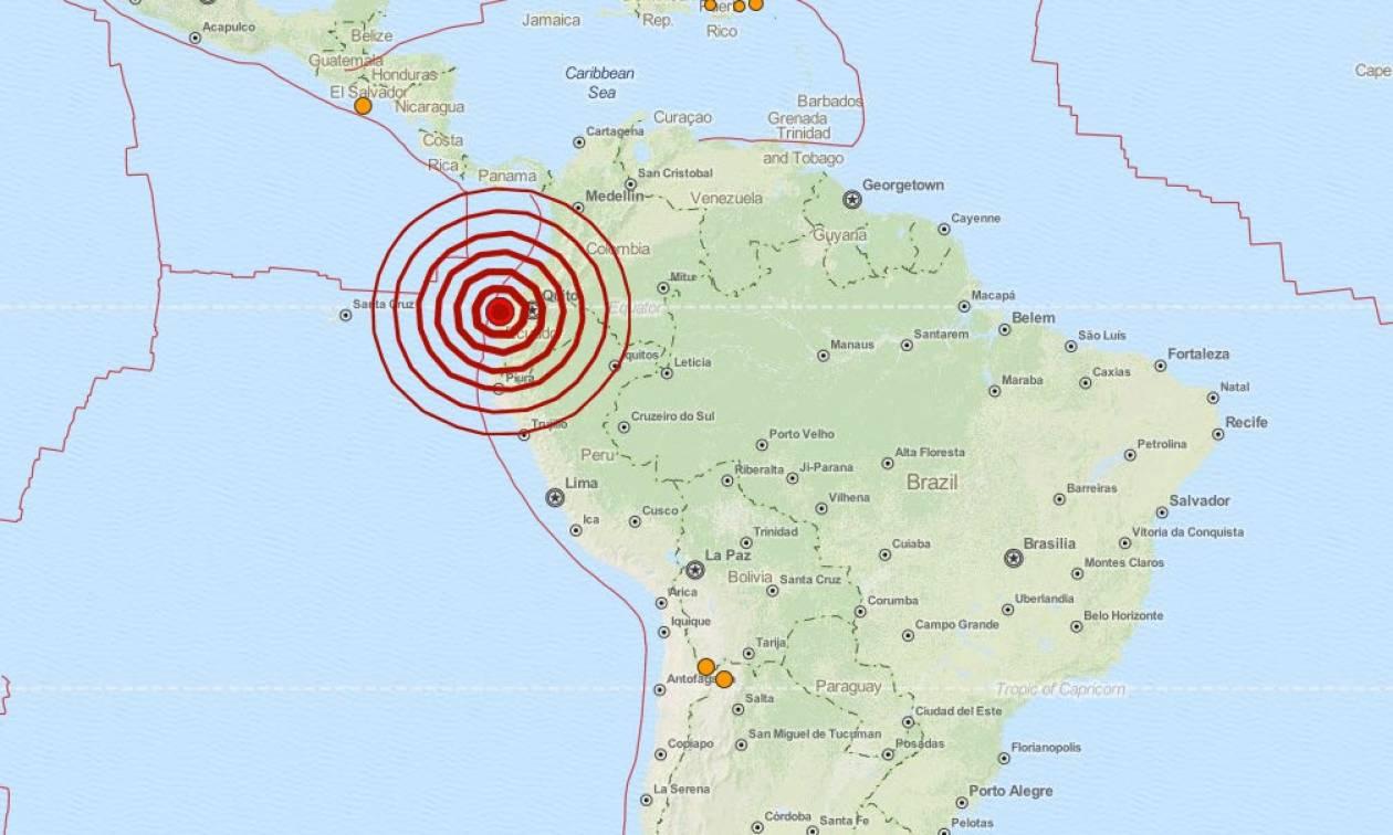 Νέος ισχυρός σεισμός 6 Ρίχτερ στον Ισημερινό