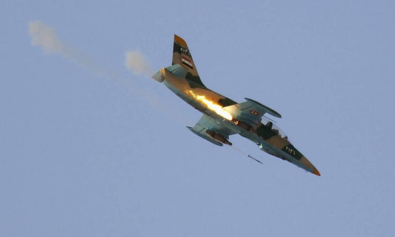 Συντριβή πολεμικού αεροσκάφους στη Συρία