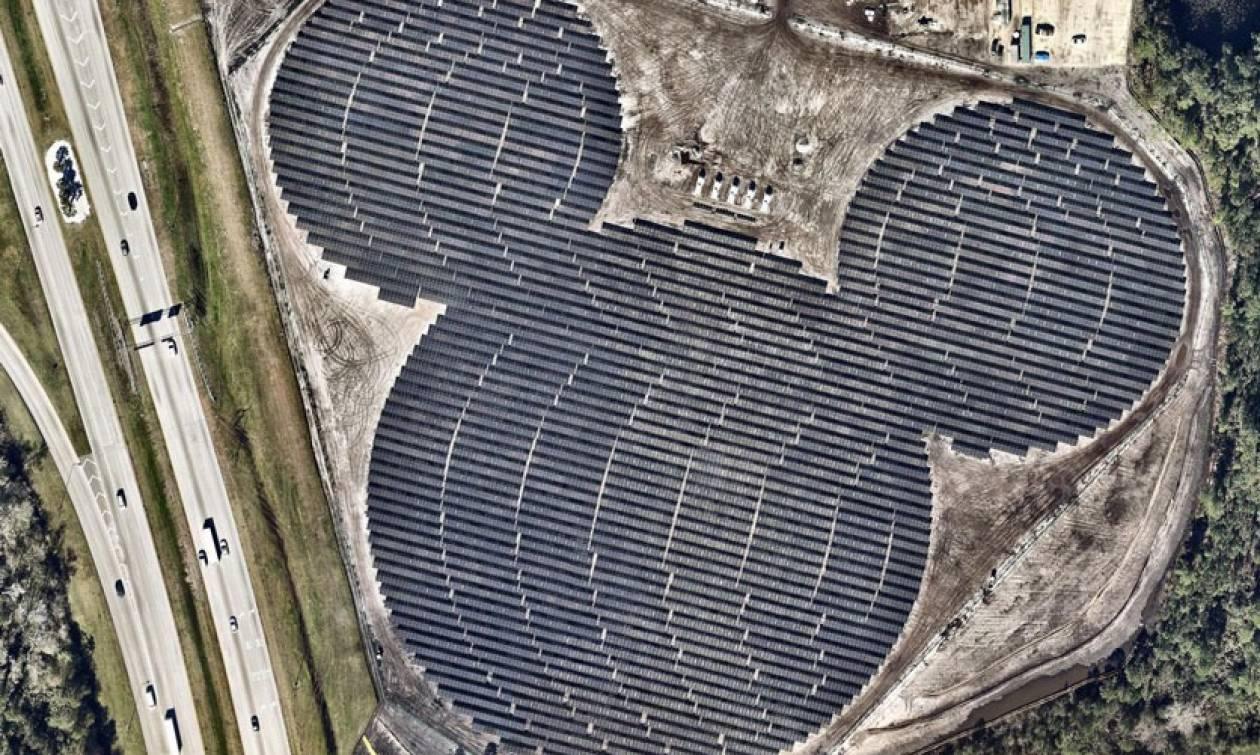 Η Disney απέκτησε το δικό της ηλιακό πάρκο σε σχήμα… «Μίκυ Μάους» (pics+vid)