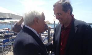 Παυλόπουλος - Σαμαράς: Μια πασχαλινή συνάντηση