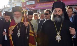 Ο Αρχιεπίσκοπος Ιερώνυμος σε Σέρρες και Λαγκαδά