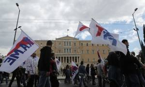 Ασφαλιστικό: Σε εξέλιξη τα συλλαλήτηρια στο κέντρο της Αθήνας (photos, videos)