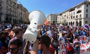 Θεσσαλονίκη: Συλλαλητήρια για το φοροασφαλιστικό και τον εορτασμό της Πρωτομαγιάς