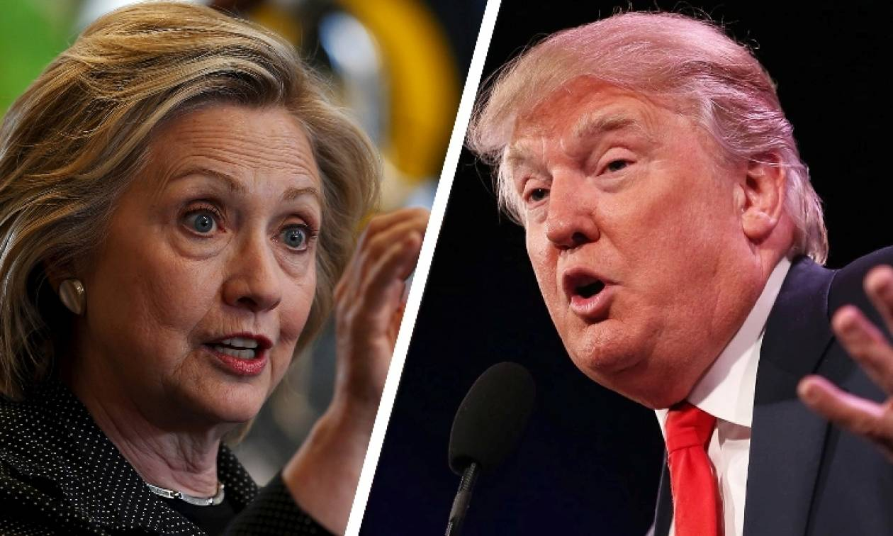 ΗΠΑ: Τραμπ και Κλίντον έρχονται στήθος με στήθος σε τρεις Πολιτείες κρίσιμης σημασίας (Vid)