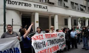 Συγκέντρωση διαμαρτυρίας εργαζομένων σε ΕΣΥ, ΕΚΑΒ και Πρόνοια