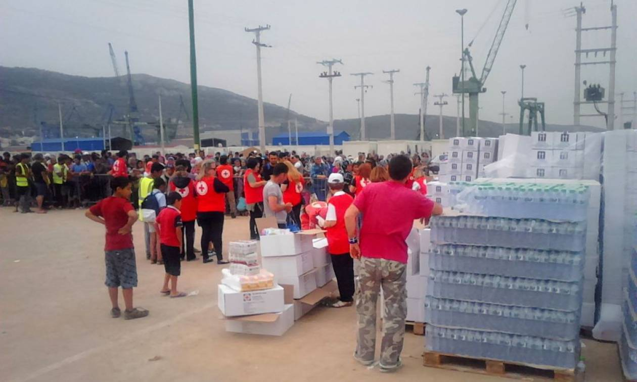 Στο Κέντρο Διαχείρισης Προσφύγων Σκαραμαγκά ο Ελληνικός Ερυθρός Σταυρός