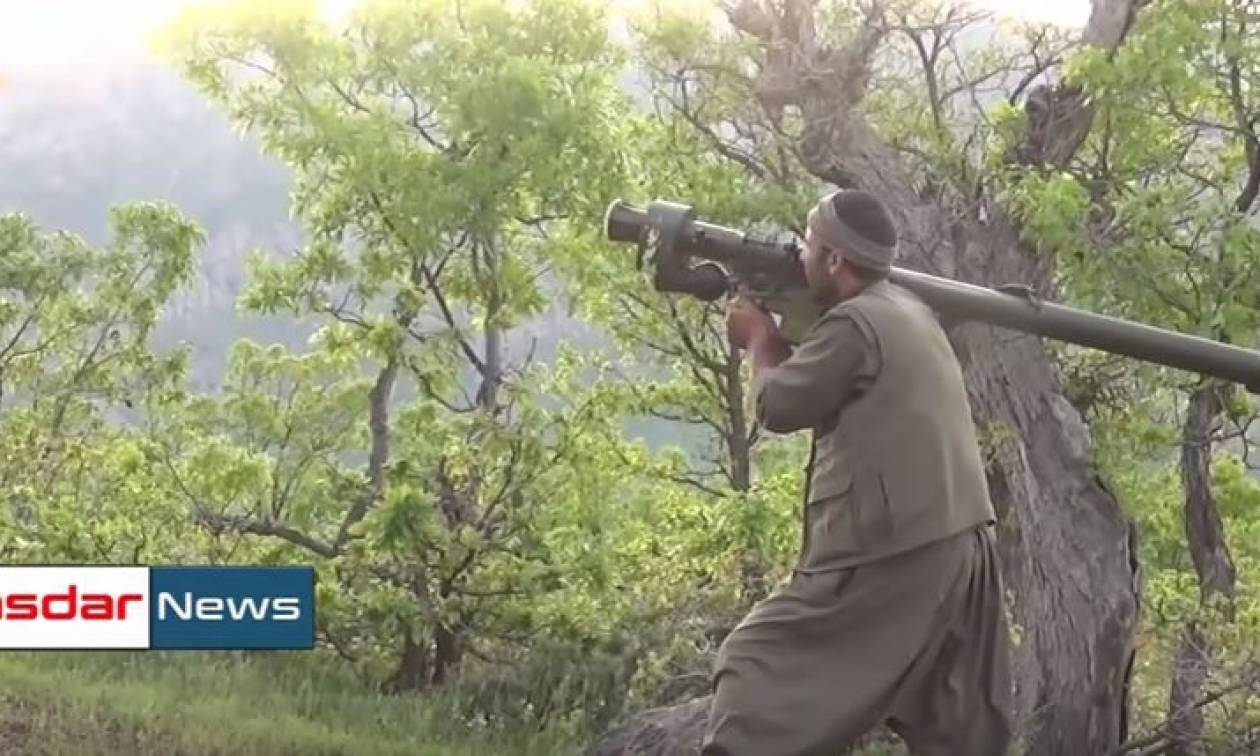 Συγκλονιστικό βίντεο: Η στιγμή που Κούρδοι αντάρτες καταρρίπτουν τουρκικό ελικόπτερο
