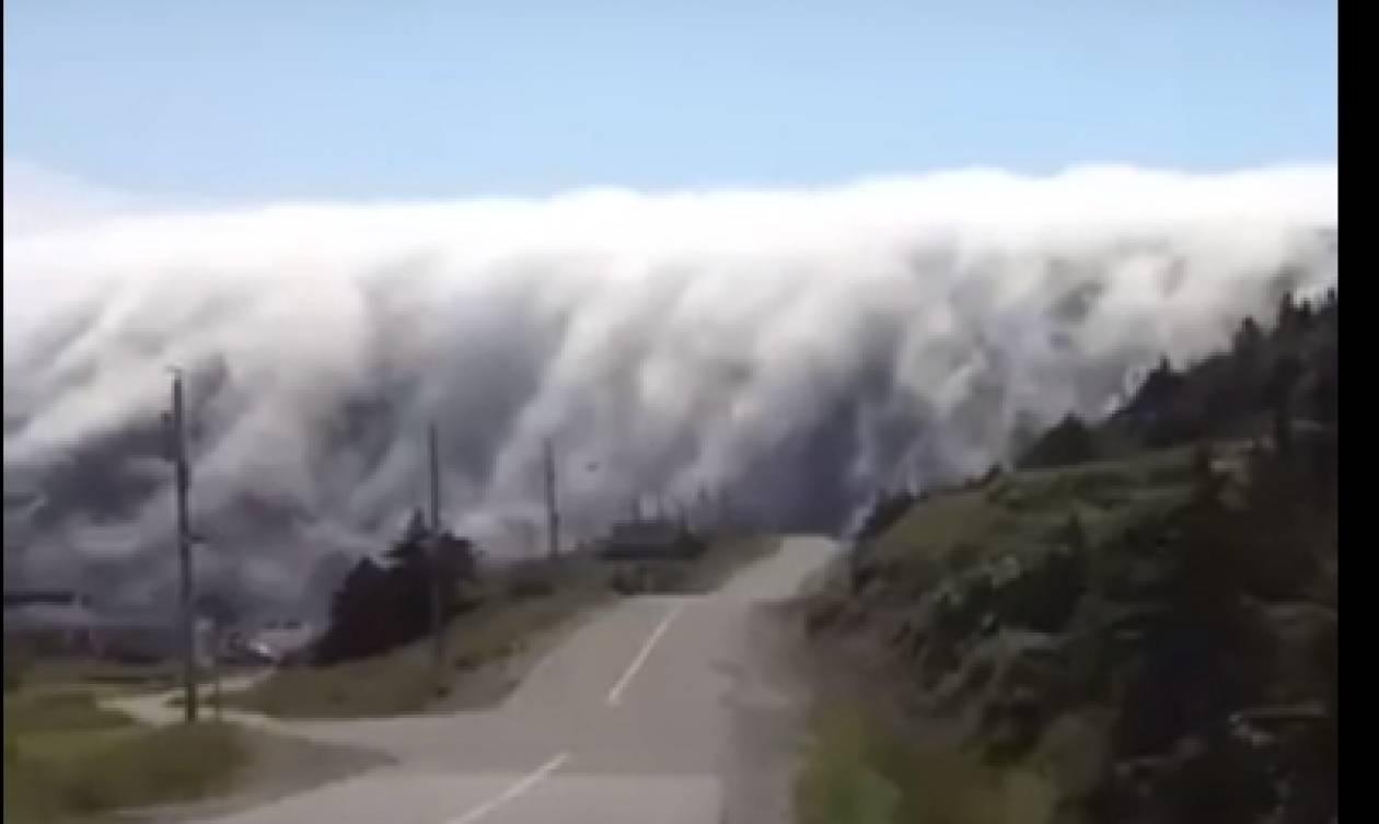 Αν δείτε ποτέ αυτή την ομίχλη μην κινηθείτε προς το μέρος της (video)