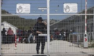 Μυτιλήνη: Πυρκαγιά σε κοντέινερ μέσα στο hot spot της Μόριας