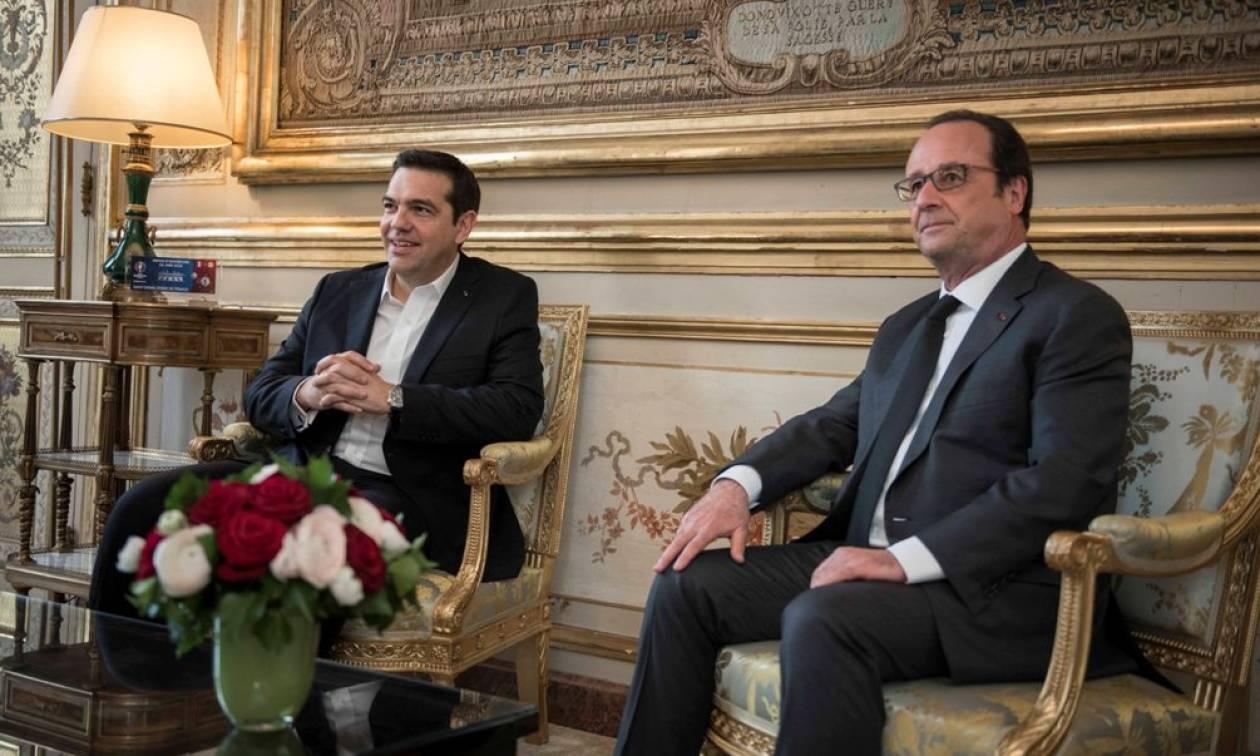 Επικοινωνία Τσίπρα – Ολάντ ενόψει Eurogroup