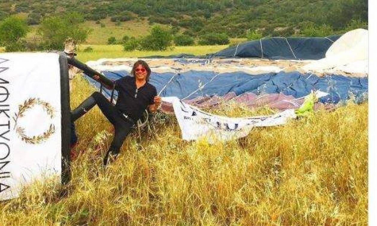Το tweet του Ψινάκη για την περιπέτειά του με αερόστατο