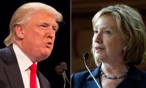 ΗΠΑ: Δημοσκόπηση δίνει για πρώτη φορά προβάδισμα του Τραμπ έναντι της Κλίντον