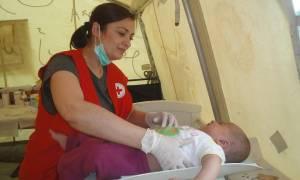 Ερυθρός Σταυρός: Υγειονομική κάλυψη στα παιδιά προσφύγων στον Κατσικά Ιωαννίνων