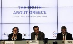Κοινή συνέντευξη Τύπου Θεοδωράκη - Φερχόφσταντ: Η Ελλάδα περνά μέτρα χωρίς να τα εφαρμόζει