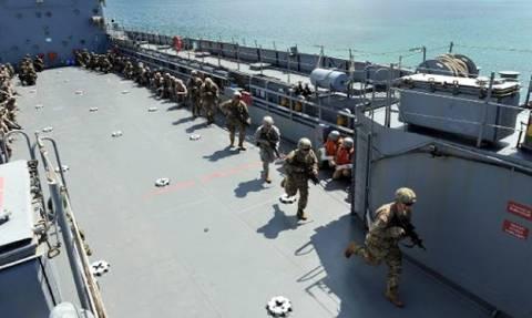 Τουρκική αποβατική άσκηση στην Έφεσο με συμμετοχή ΗΠΑ- Πολωνίας- Σαουδικής Αραβίας