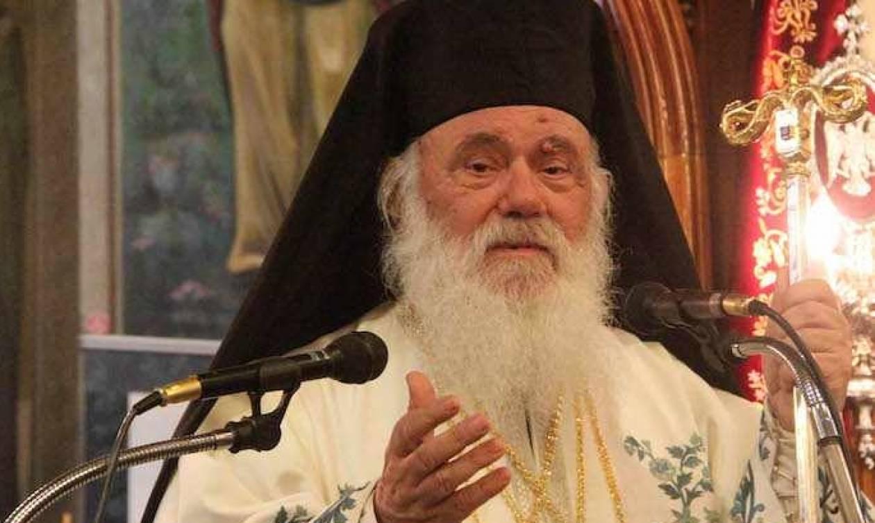 Ο Αρχιεπίσκοπος Ιερώνυμος στην Παναγιά των Οινουσσών