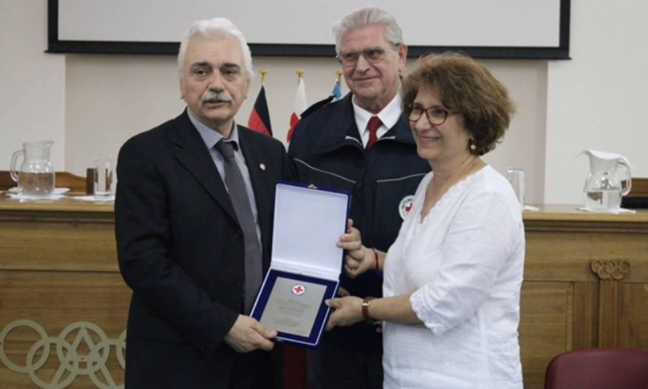 Επίσκεψη του Προέδρου του ΕΕΣ στις εγκαταστάσεις της Διεθνούς Ολυμπιακής Ακαδημίας