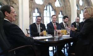 To Κυπριακό συζήτησαν Αναστασιάδης και μέλη του Αμερικανικού Κογκρέσου