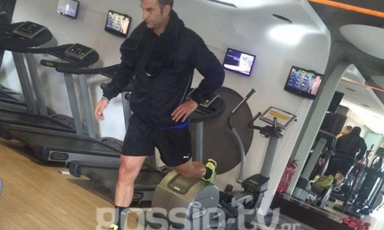 Παπαράτσι τώρα. «Λιώνει» ο Δέλλας στο γυμναστήριο (pics)