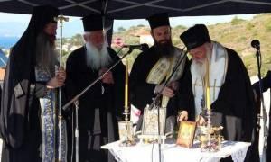 Το θεμέλιο λίθο Ναού στο Δήλεσι έθεσε ο Αρχιεπίσκοπος Ιερώνυμος