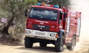 Κρήτη: Ανετράπη πυροσβεστικό όχημα στη Βιάννο