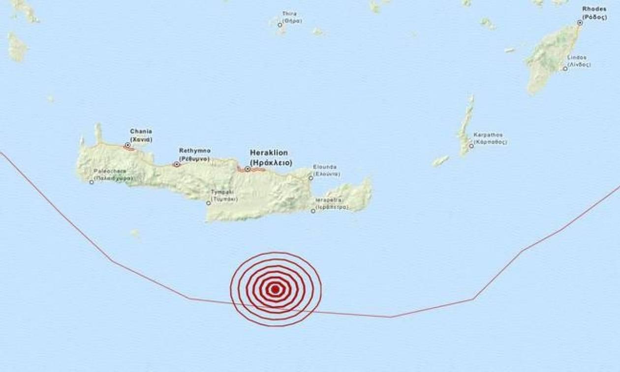 Σεισμός 4,1 Ρίχτερ νότια της Κρήτης (pic)