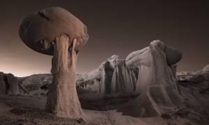 Σαν από άλλο κόσμο: Τα σουρεαλιστικά τοπία της ερήμου στη Βόρεια Αμερική (Pics)