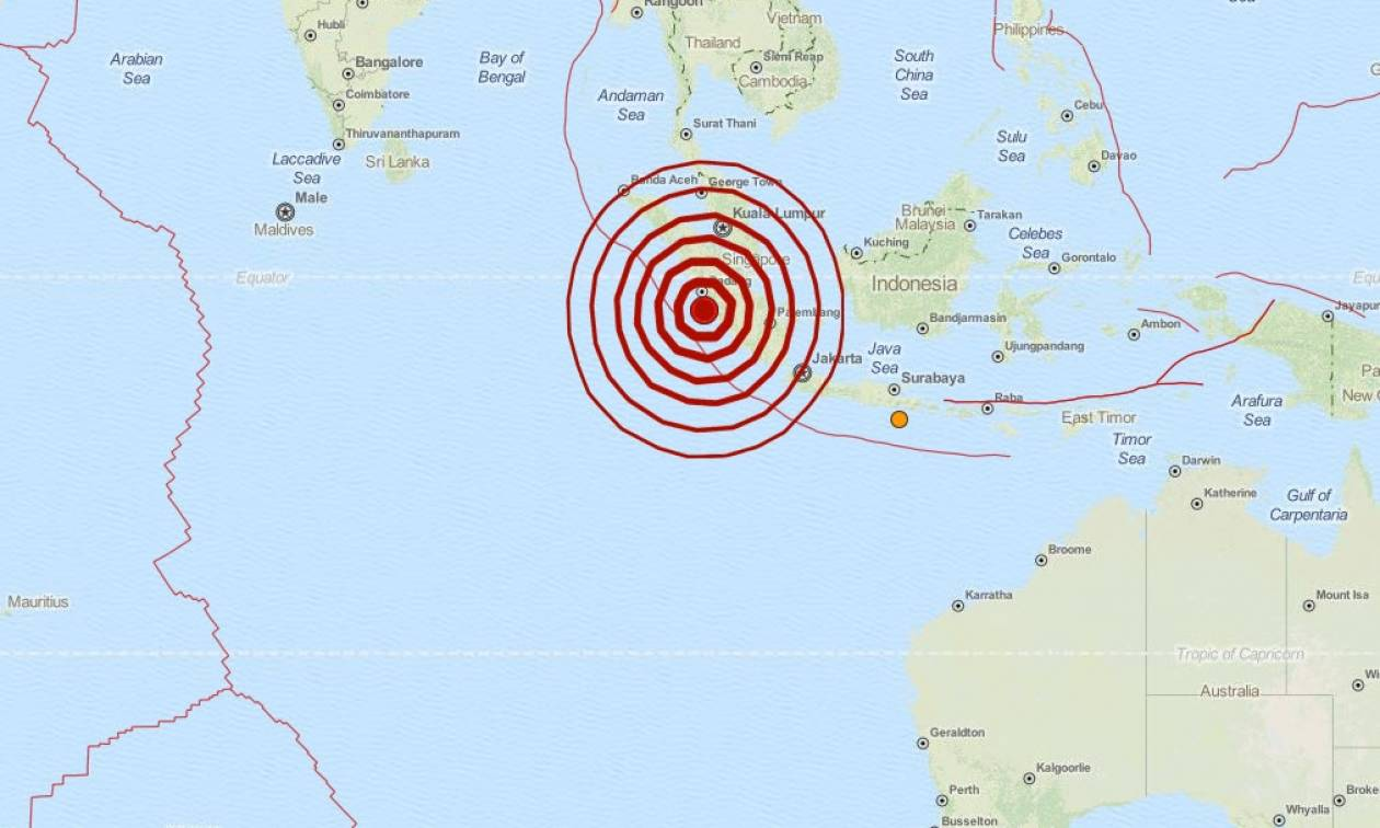 Σεισμός τώρα: 6,5 Ρίχτερ στην Ινδονησία