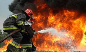 Κάηκε ζωντανός μέσα στην νταλίκα του!