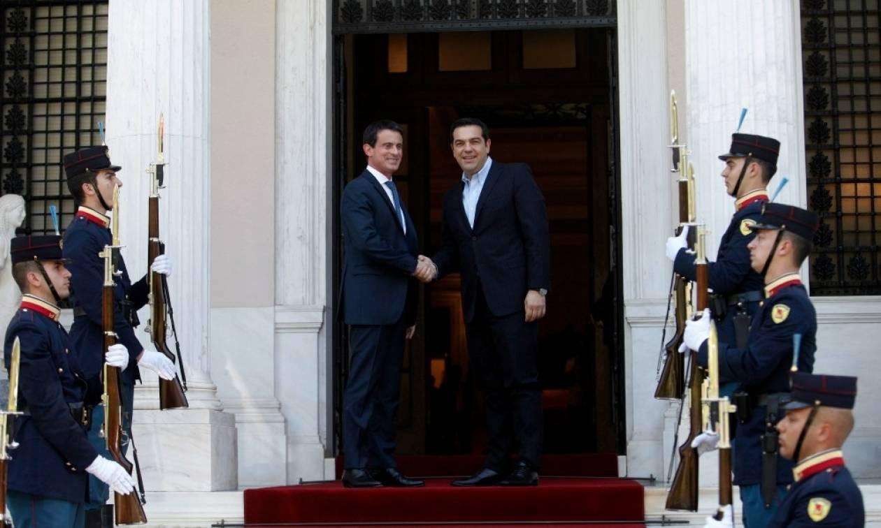 Τσίπρας: Συνεχίζουμε τον κοινό βηματισμό με τη Γαλλία - Βαλς: Μπορείτε να υπολογίζετε σε εμάς
