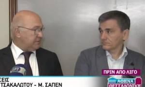 Σαπέν: Οι δυσκολίες δεν έχουν τελειώσει - Τσακαλώτος: Έμφαση στις μεγάλες μεταρρυθμίσεις (vid)