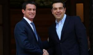 Βαλς: Η Γαλλία είναι στο πλευρό της Ελλάδας - Τσίπρας: Μας συνδέουν ιστορικοί δεσμοί (video)