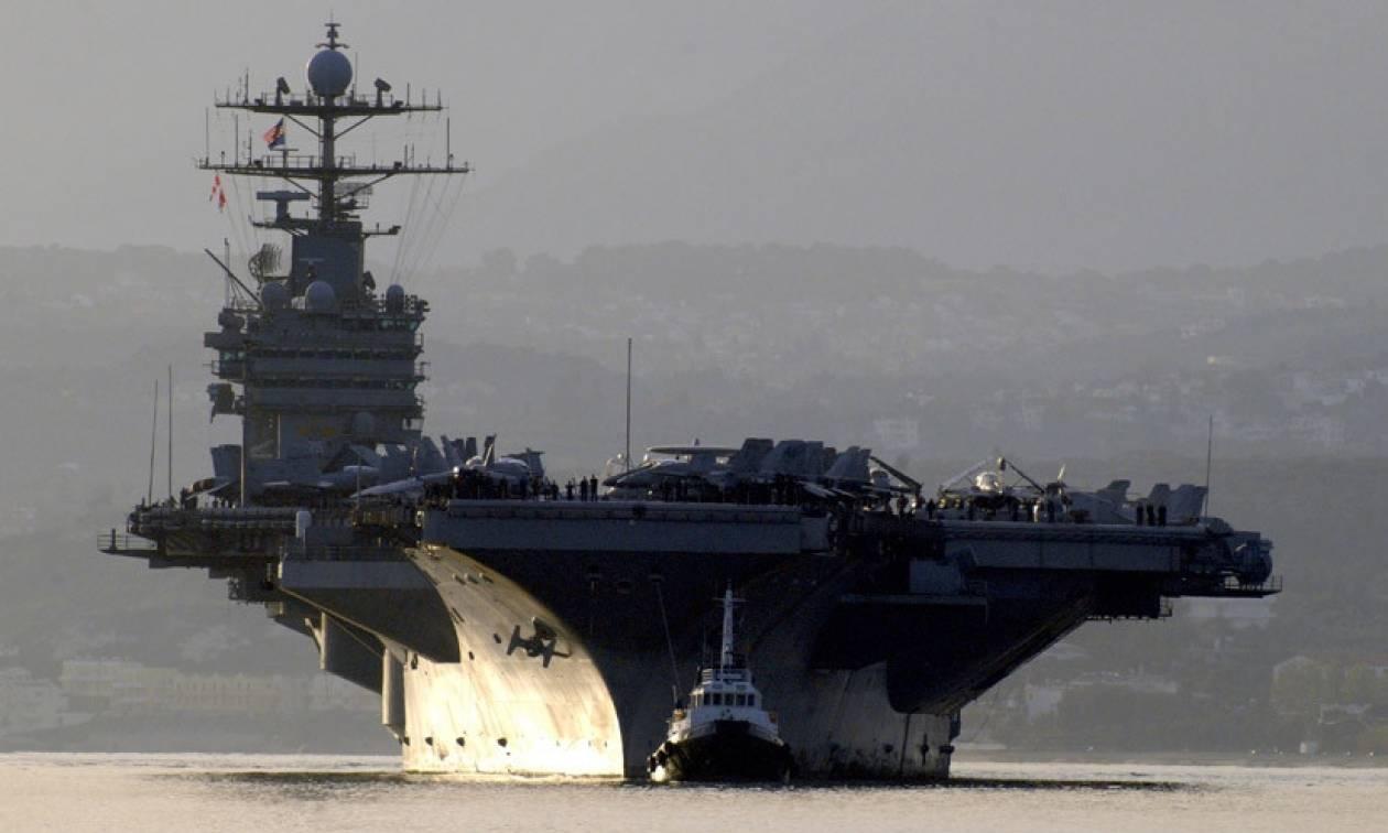 Για πρώτη φορά από το 2003 αμερικανικά αεροσκάφη επιχειρούν από αεροπλανοφόρο στη Μέση Ανατολή (Vid)