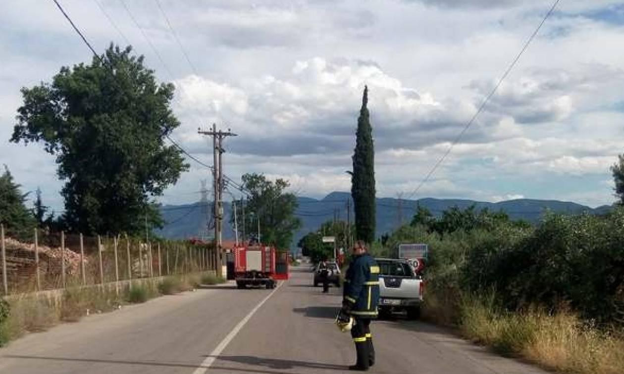Λαμία: Συναγερμός από φωτιά μετά από διαρροή προπανίου (pics)