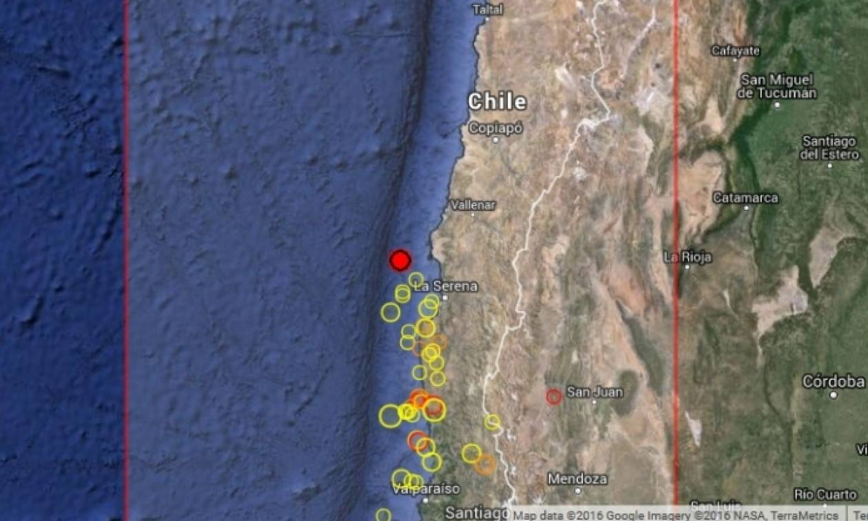 Σεισμός 5,7 Ρίχτερ στη Χιλή