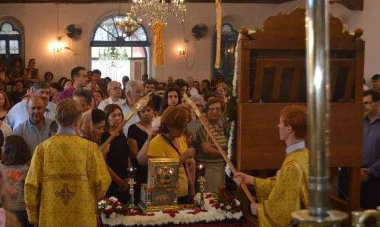 Υποδοχή ιερού λειψάνου Αγίου Λουκά Αρχιεπισκόπου Συμφερουπόλεως