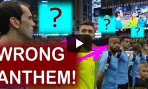 Επική γκάφα: Έπαιξαν λάθος ύμνο στο Ουρουγουάη-Μεξικό! (video)