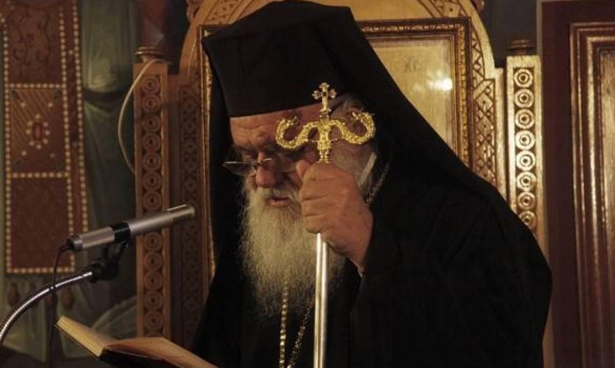 Ο Αρχιεπίσκοπος Ιερώνυμος στην ιερά μονή Άξιον Εστίν
