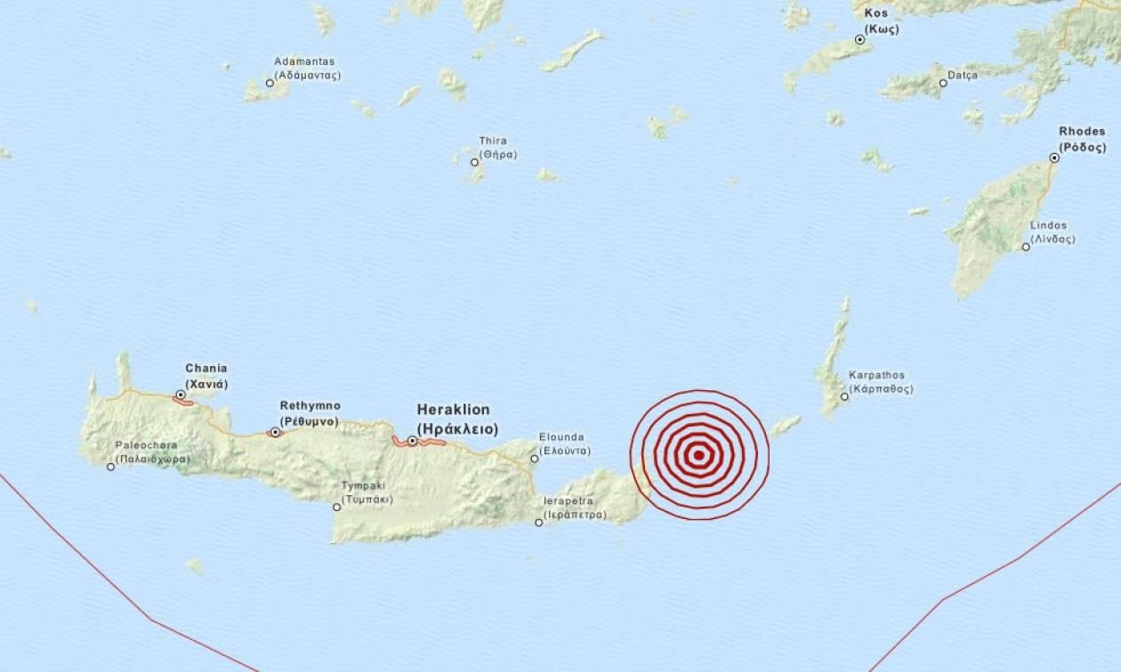 Σεισμός 3,7 Ρίχτερ μεταξύ Κρήτης και Κάσου (pic)