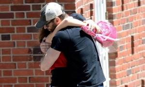 Ο Hugh Jackman σε μία σπάνια εμφάνιση με την κόρη του