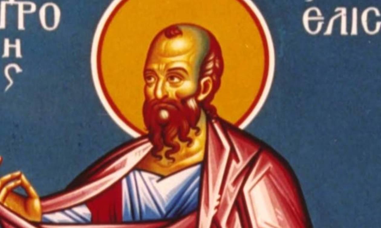 Προφήτης Ελισσαίος: Εορτάζει στις 14 Ιουνίου