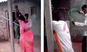 Βίντεο σοκ: Απατημένος σύζυγος μαστιγώνει δημοσίως τη γυναίκα του και τον εραστή της!