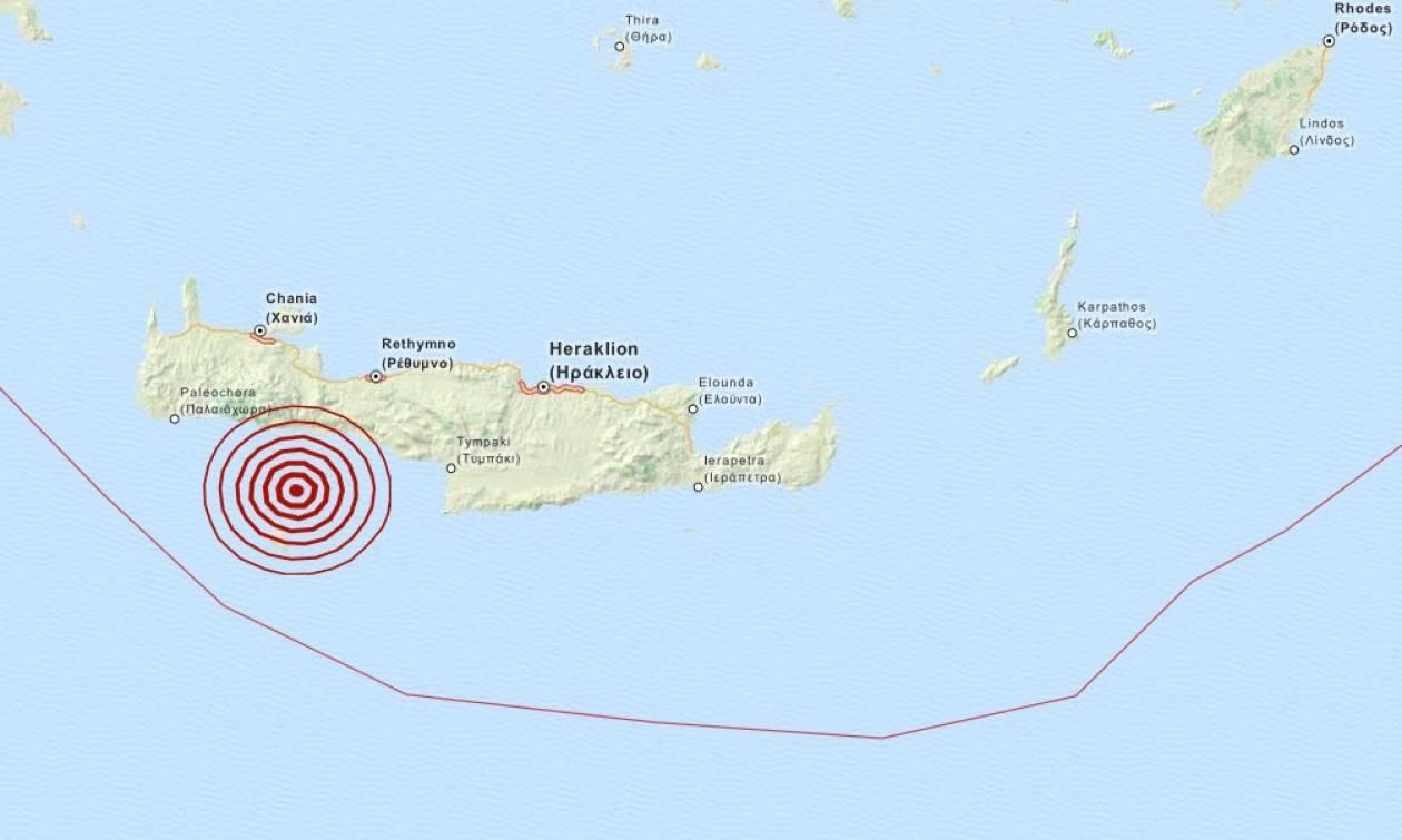 Σεισμός 3,7 Ρίχτερ βόρεια της Γαύδου (pic)